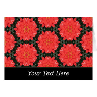 Red Flower Pattern Template Greeting Card