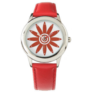 Red Flower Petals Fresh Floral Blossom Watch