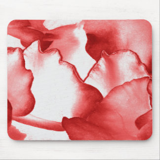 Red Flower Petals Mouse Pad