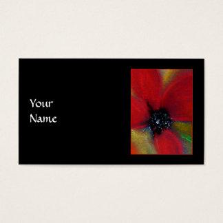 Red Flower, Poppy. Business Card