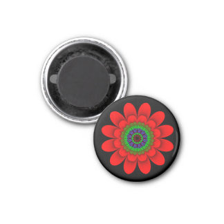 Red Flower Power Magnet