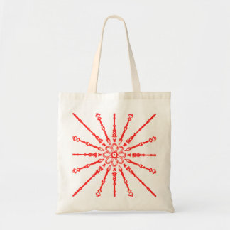 Red Flower Power Tote Bag