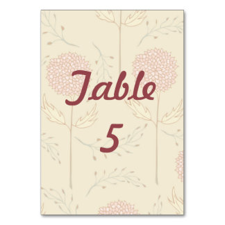Red Flower Wedding Blossoms Card