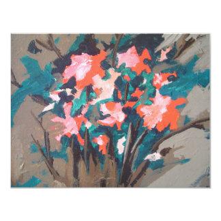 Red-flowered Shrub Card