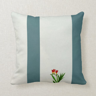 Red flowers American MoJo Pillows Cushions