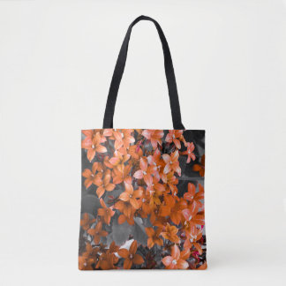 Red flowers bag