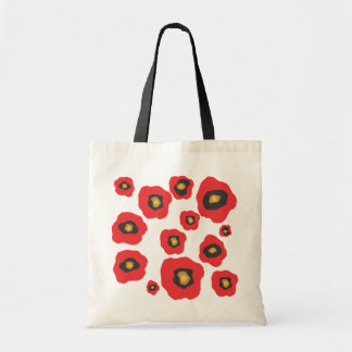 Red Flowers Bags