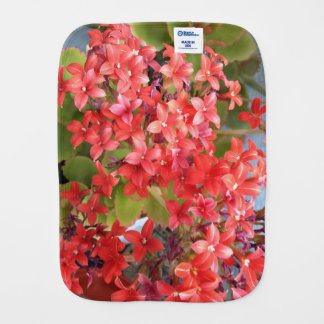 Red flowers burp cloth