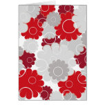 Red flowers - Card