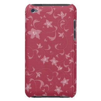 Red Flowers Case-Mate iPod Touch Barely There Case iPod Touch Case-Mate Case