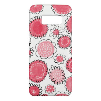 Red flowers Case-Mate samsung galaxy s8 case