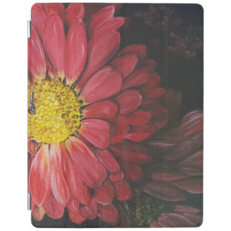 Red flowers cover iPad cover