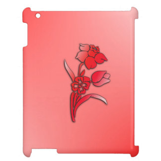 Red Flowers Daffodil Case For The iPad 2 3 4