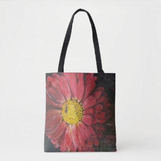 Red flowers draagtas tote bag