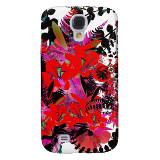 Red Flowers Floral Fantasy Art Galaxy S4 Covers