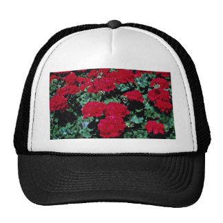 Red flowers hat