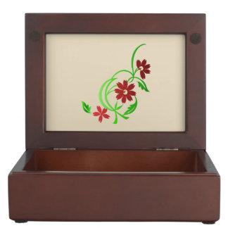 Red Flowers Keepsake Box