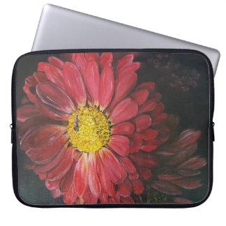 Red flowers laptop sleeves