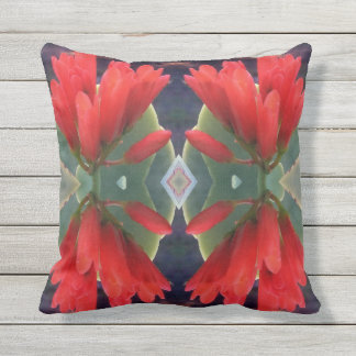 Red Flowers Pattern Outdoor Cushion