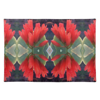Red Flowers Pattern Placemats