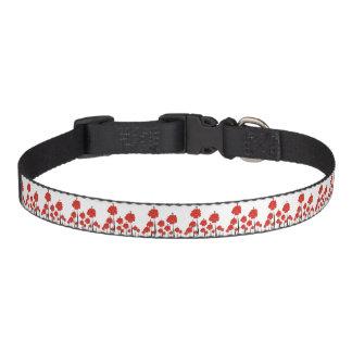 Red Flowers Pet Collar