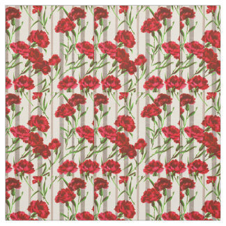 red flowers print fabric