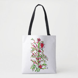 Red Flowers Tote