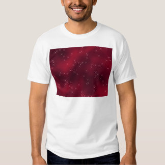 red flowing star nebula t shirt