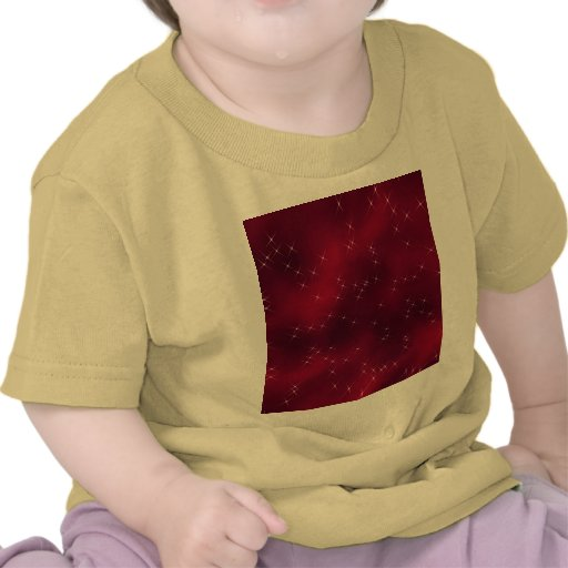 red flowing star nebula t-shirt