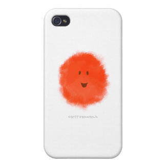 Red Fluffy Critter Case For iPhone 4