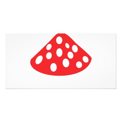 red fly agaric icon photo cards