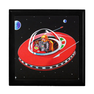 RED FLYING SAUCER LARGE SQUARE GIFT BOX