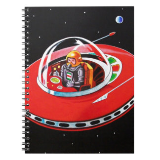 RED FLYING SAUCER NOTE BOOKS