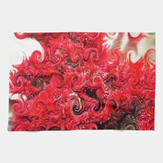 Red Foam Design Tea Towel