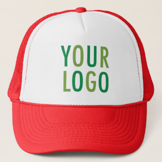 Red Foam Trucker Hat with Company Logo No Minimum