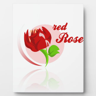 Red foes flower plaque