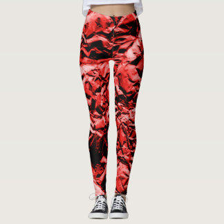 Red Foil #2 Leggings