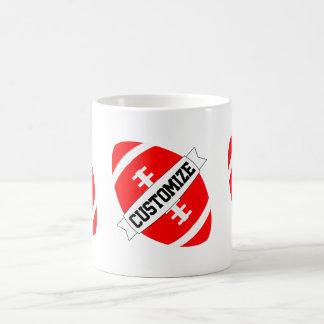 Red Football Coach or Fan Custom Team Name Mug