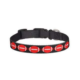 Red Football Dog Collar