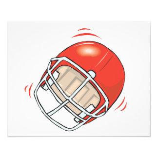 red football helmet 11.5 cm x 14 cm flyer