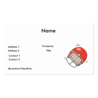 red football helmet pack of standard business cards