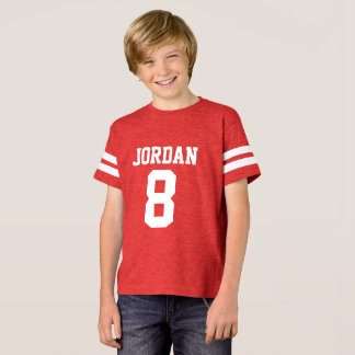 Red Football Jersey - Sports Theme Birthday Party T-Shirt