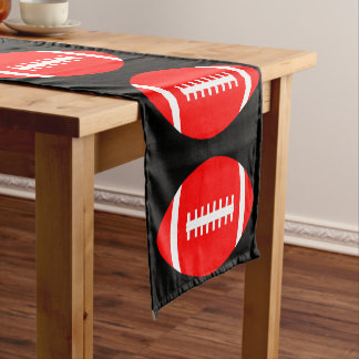 Red Football Team Party, Banquet or Event Decor Short Table Runner