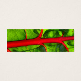 red for passion and green for hope bookmark mini business card