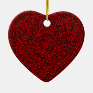 Red Forest Ceramic Heart Decoration