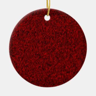 Red Forest Round Ceramic Decoration