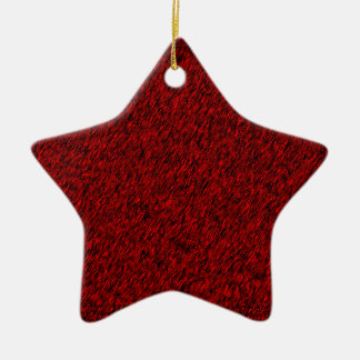 Red Forest Ceramic Star Decoration