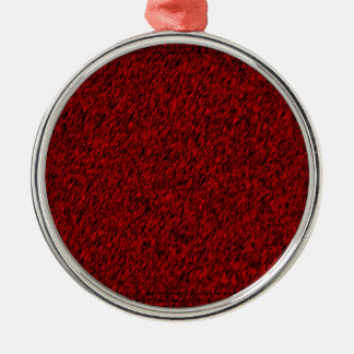 Red Forest Silver-Colored Round Decoration