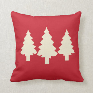 Red Forest Trees Cushion