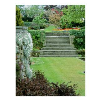 Red Formal Garden - Arabis, Aubretia, Wallflowers, Postcard